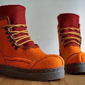 """Валяные ботинки """"Рыжие-бесстыжие"""". Родня"""