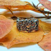 "Кольцо ""Гроздья рябины"", серебро с чернением. Organic Jewelry"