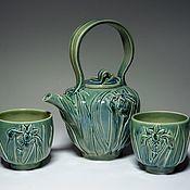 """Чайный набор """"Ирисы"""". Pylina-ceramics"""