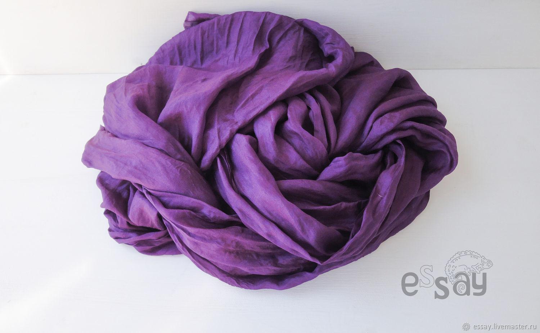 Шелковый шарф Ультрафиолет, Шарфы, Сосновый Бор,  Фото №1