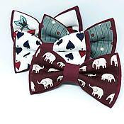 Подарок новорожденному ручной работы. Ярмарка Мастеров - ручная работа Бордовые галстук-бабочки. Handmade.