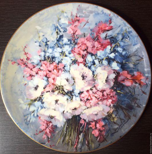 Винтажные предметы интерьера. Ярмарка Мастеров - ручная работа. Купить Прекрасная большая коллекционная тарелка Royal Doulton. Handmade. Комбинированный