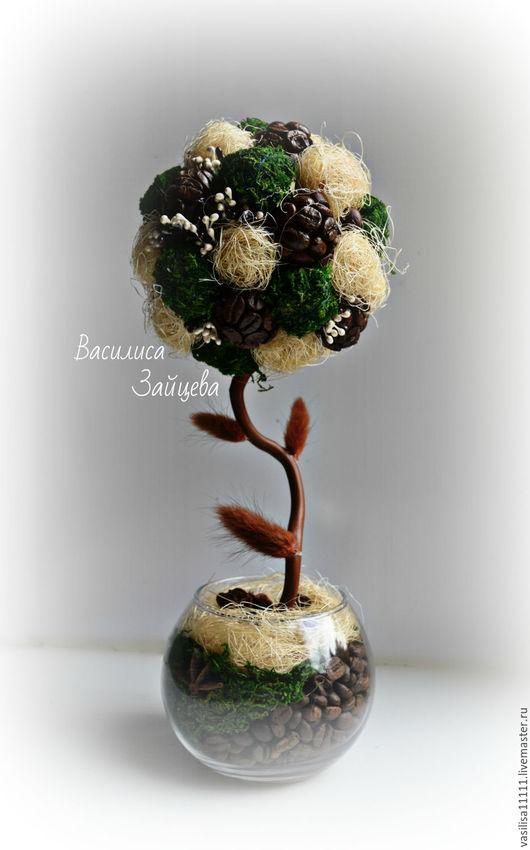 Топиарии ручной работы. Ярмарка Мастеров - ручная работа. Купить Эко-топиарий. Handmade. Топиарий дерево счастья, мох, мох