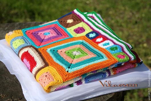"""Пледы и одеяла ручной работы. Ярмарка Мастеров - ручная работа. Купить Плед """"Babette Blanket"""" хб. Handmade. Абстрактный, красочный"""