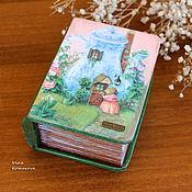 Для дома и интерьера handmade. Livemaster - original item Box-book with illustrations by Susan Wheeler. Handmade.