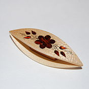 Материалы для творчества handmade. Livemaster - original item Wooden Tatting Shuttle Hand Made in Maple Decorated With MOP. Handmade.
