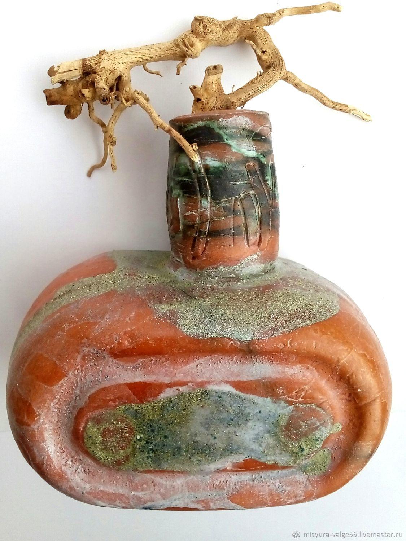 Вазочка из керамики ручной работы.Цветные глазури.Ци