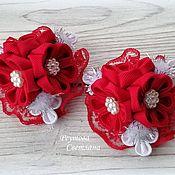 Украшения handmade. Livemaster - original item Elastic bands for hair red Bouquet. Handmade.
