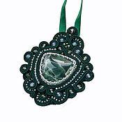 Украшения handmade. Livemaster - original item Soutache pendant `Emerald` soutache jewelry. Handmade.