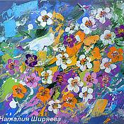 """Картины и панно ручной работы. Ярмарка Мастеров - ручная работа """"Вишневый Цвет"""" - картина маслом с цветами. Handmade."""