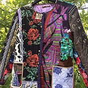 handmade. Livemaster - original item Women`s patchwork jacket Roses. Handmade.