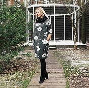 Одежда ручной работы. Ярмарка Мастеров - ручная работа Теплое платье-свитер. Handmade.