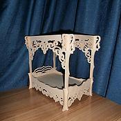Куклы и игрушки handmade. Livemaster - original item Doll crib with canopy 555. Handmade.
