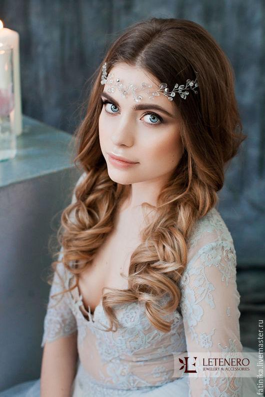 Венок, венок на голову, венок из цветов, венок свадебный, венок невесты, свадебные аксессуары, свадебные украшения, украшение невесты, украшения, украшения из бисера, украшения из серебра