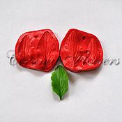 Материалы для творчества handmade. Livemaster - original item Silicone mold (Weiner) leaves of pansies ,bilateral. Handmade.