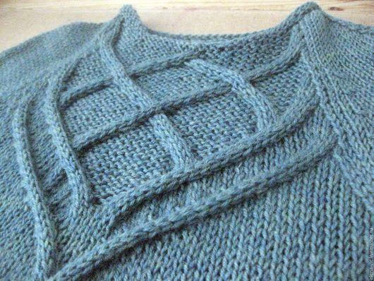 Кофты и свитера ручной работы. Ярмарка Мастеров - ручная работа. Купить Вязаный женский свитер с узором из кос. Handmade. реглан