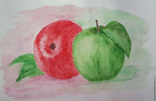 Натюрморт ручной работы. Ярмарка Мастеров - ручная работа. Купить Яблоки. Handmade. Яблоко, фрукт