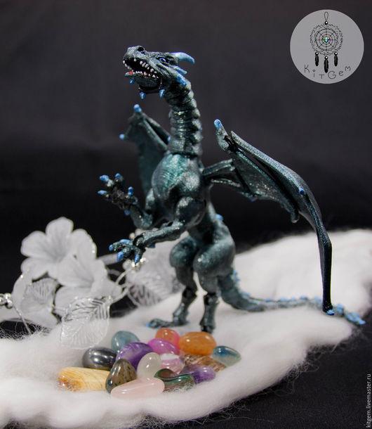 Игрушки животные, ручной работы. Ярмарка Мастеров - ручная работа. Купить Дракон шарнирный (драконица) BJD (БЖД) по имени Полночь. Handmade.