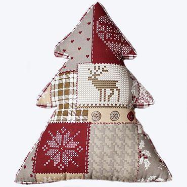 Текстиль ручной работы. Ярмарка Мастеров - ручная работа Подушка-елка в стиле пэчворк. Handmade.