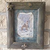 """Картины и панно ручной работы. Ярмарка Мастеров - ручная работа Картина """"Мой зимний домик"""".. Handmade."""