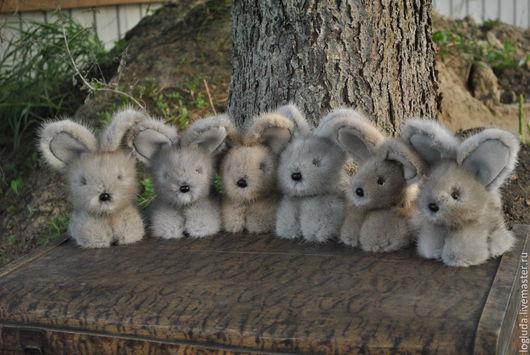 Куклы и игрушки ручной работы. Ярмарка Мастеров - ручная работа. Купить Игрушка из натурального меха.Кролик Кроха.. Handmade.