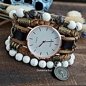 Украшения handmade. Livemaster - original item Stylish brown women`s watch with Jasper