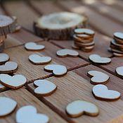 Материалы для творчества handmade. Livemaster - original item Wooden hearts (cutting) 13 mm 10 PCs. Handmade.