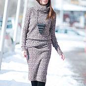 Одежда handmade. Livemaster - original item Dress, tunic Dress, Brown dress, Fashion, long dress. Handmade.