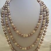 Украшения handmade. Livemaster - original item Long necklace of freshwater pearls and silver. Handmade.