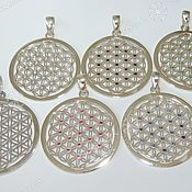 Фен-шуй и эзотерика handmade. Livemaster - original item THE FLOWER OF LIFE WITH STONE (40MM). Handmade.