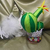 """Подарки к праздникам ручной работы. Ярмарка Мастеров - ручная работа игольница """"Кактус"""" ручная работа. Handmade."""