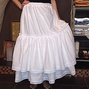 Одежда handmade. Livemaster - original item Lower long skirt trimmed with lace. Handmade.