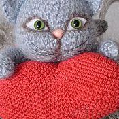 Куклы и игрушки ручной работы. Ярмарка Мастеров - ручная работа Котёнок с сердцем. Handmade.