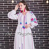 Одежда ручной работы. Ярмарка Мастеров - ручная работа Платье  бохо с вышивкой,этно стиль, Bohemia,вышиванка. Handmade.