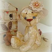 Куклы и игрушки ручной работы. Ярмарка Мастеров - ручная работа Мишка Тедди Пина Колада (экрю). Handmade.