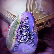 Украшения handmade. Livemaster - original item Cabochon for jewelry jewelry painting on stone