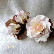 Украшения ручной работы. Ярмарка Мастеров - ручная работа Зажим с розой(большой). Handmade.