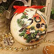 Сувениры и подарки handmade. Livemaster - original item Christmas balls Titmice. Handmade.