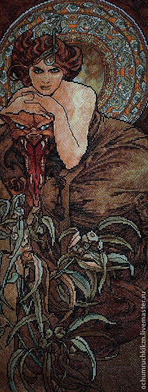 Репродукции ручной работы. Ярмарка Мастеров - ручная работа. Купить Талисман ( по картине А.Муха). Handmade. Юбилей, подарок