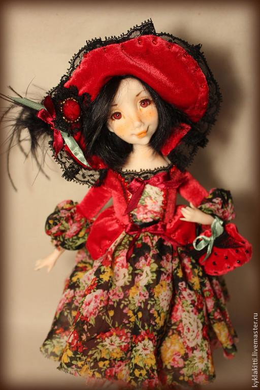 Коллекционные куклы ручной работы. Ярмарка Мастеров - ручная работа. Купить Малышка Красная шапочка. Handmade. Разноцветный, фимо