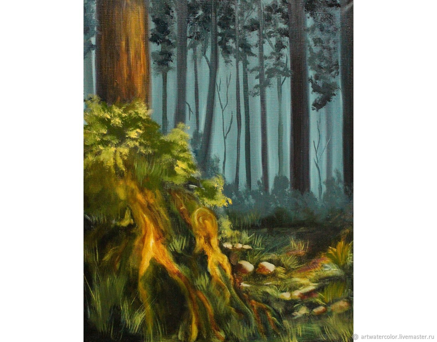 Oil painting the roots of the Forest landscape, Pictures, Moscow,  Фото №1