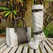 Обувь ручной работы handmade. Livemaster - original item a set of Python. Boots and bag. Handmade.