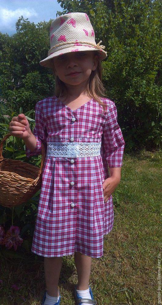 """Одежда для девочек, ручной работы. Ярмарка Мастеров - ручная работа. Купить Платье летнее """"Маленькая Леди"""". Handmade. Коралловый, халатик"""