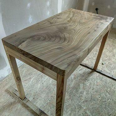 Мебель ручной работы. Ярмарка Мастеров - ручная работа Письменный стол из массива дерева Карагач.. Handmade.