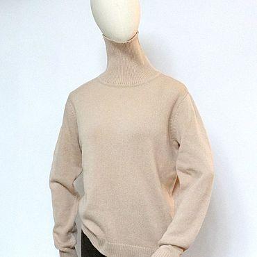 Одежда ручной работы. Ярмарка Мастеров - ручная работа Водолазка из кашемира бежевая пудра. Handmade.