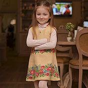 Работы для детей, ручной работы. Ярмарка Мастеров - ручная работа Платье валяное Розовый букет. Handmade.