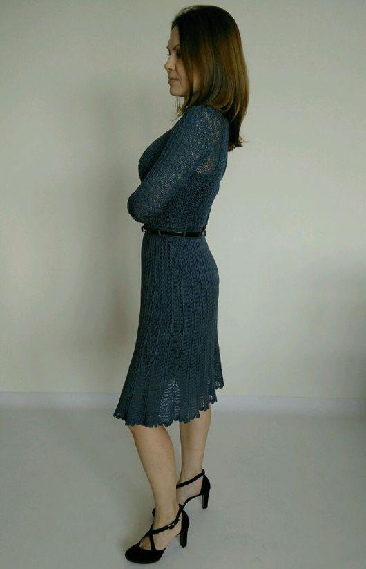 """Платья ручной работы. Ярмарка Мастеров - ручная работа. Купить Платье из шёлка """"Софи"""". Handmade. Синий, шелк 100%"""