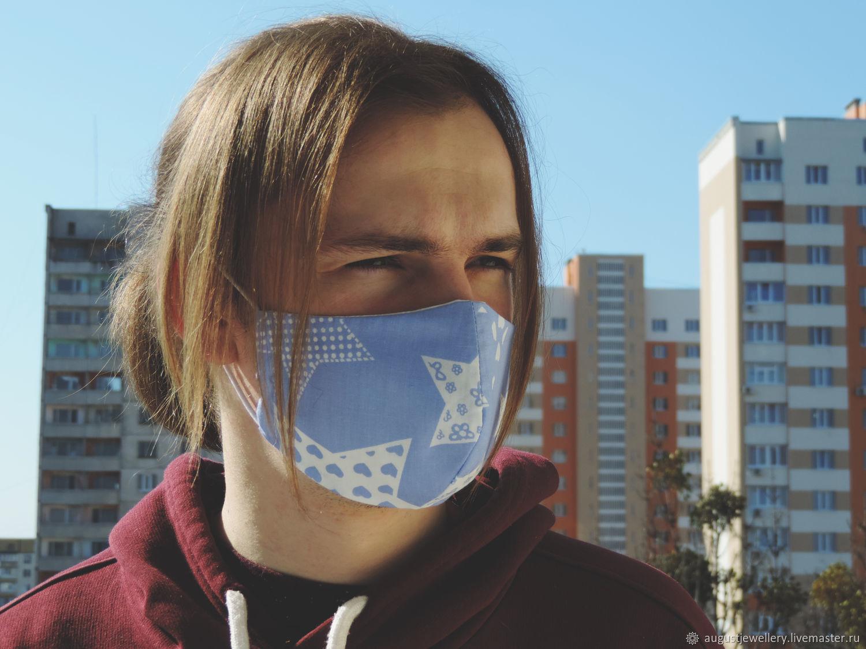 Blue reusable mouth and nose mask, Protective masks, Kharkiv,  Фото №1