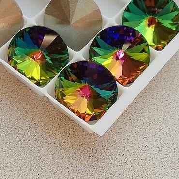 Материалы для творчества ручной работы. Ярмарка Мастеров - ручная работа Риволи Crystal Vitrail Medium 12 мм rivoli (1122) кристаллы Сваровски. Handmade.