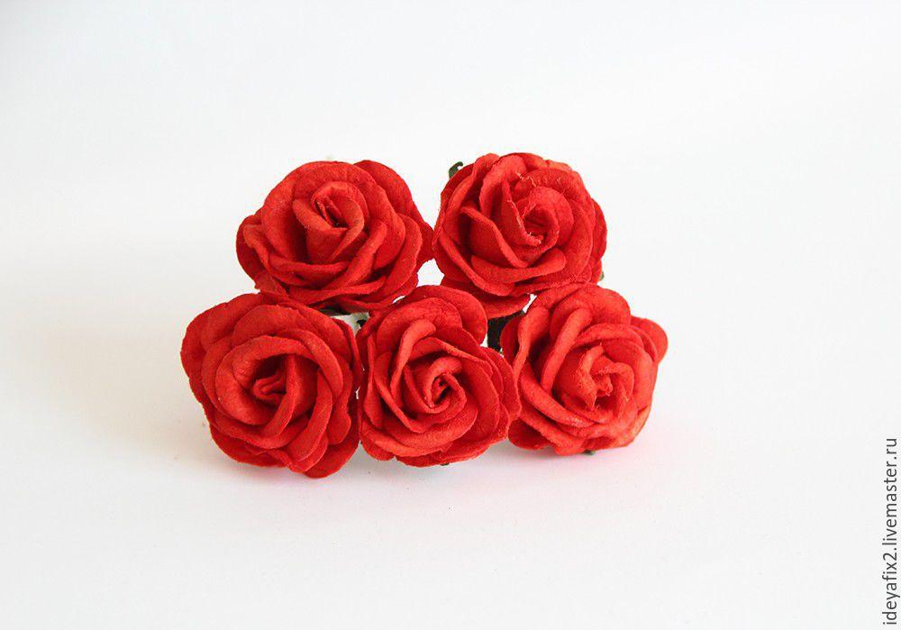 Диаметр розы 4 см. Высота около 2 см.  Цена указана за 1 цветок.